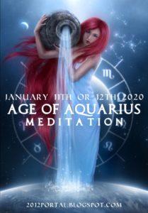 Méditation pour l'Ere du Verseau le 12 janvier 2020